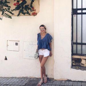 Zara blue blouse size m
